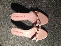 Pink heels, size 5, worn once.