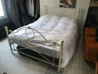 Double Bed Frame - Metal, VGC