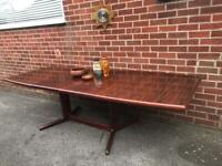 Vintage Danish SKOVBY Rosewood Dining Table 6-10 Seater Extends RRP £1500