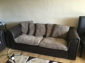 Brown/ Beige 3&2 seater sofa
