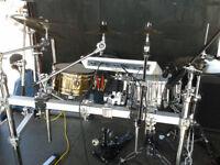 Pearl drum rack + accessories + Hardcase trunk
