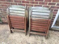Reclining Garden chairs x4