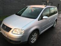 VW Volkswagen Touran Se Tdi Silver Diesel 5 Doors 7 Seater Family Prams Car Alloy Rim MOT Jan, 2019