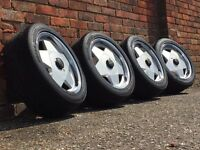Remotec deep dish alloy wheels, 5x120, Bmw e46 e36 3 series, with tyres