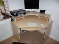 Home Office desk and storage unit with book case and drawers