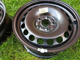 "2x 16"" steel wheels and 15 space saver wheel"