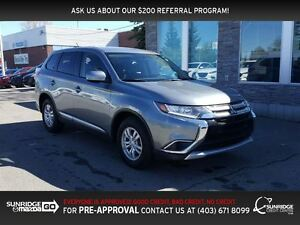 2016 Mitsubishi Outlander ES, AWD, HEATED SEATS, BLUETOOTH