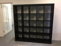 Large Dark Brown Wooden Bookcase