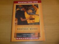 A History of Western Music by Peter J. Burkholder, International Student Edition