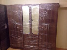 Brown wardrobe with mirrors (fixed)