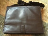 Ashwood brown leather laptop / messenger bag