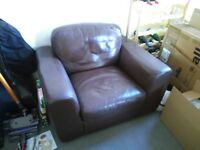 Big leather armchair