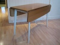 Stylish Mid Century Bi-fold / Drop-Leaf Kitchen / Dining Table from 1950s / 1960s - Seats up to 6
