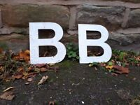 "Vintage Retro Reclaimed Salvage Shop Letters Pub Sign Industrial B b Letter ""B"" Bedroom Initial"