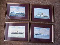 7 Clyde Steamer Prints by J Nicholson
