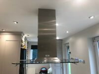 BESPOKE WESTIN EXTRACTOR COOKER HOOD - STAINLESS STEEL & GLASS