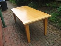 Solid Oak 8 Seater M&S Dining Table
