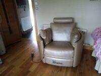 Leather Swivel rocking seat
