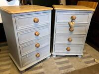 Solid Pine Bedside tables / chests/ drawers
