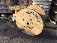 Cable reels , drums various sizes available, reclaimed ready for up cycle