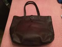Fat Face Large Buckle Chocolate Leather Tote Bag