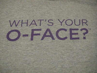 Three Olives Vodka What's Your O-Face? T Shirt XL Gray