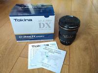 Tokina AT-X 12-28mm f/4 Pro DX Lens Nikon fit with Hoya Fusion Protector Filter