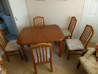 Sold wood quality dining table