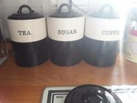 Tea Coffee ans Sugar Jars