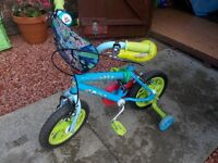 Child kids Toy Story bike pushbike with stabilisers