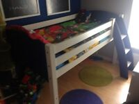 Single solid wood midsleeper bed