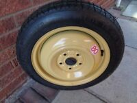 """HONDA SPACE SAVER SPARE WHEEL. 5 stud. T135/ 80015 ( 15"""") NEVER BEEN USED, AS NEW"""