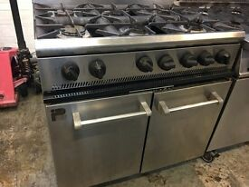 Parry P6BO Gas 6 Burner Range Cooker