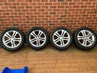 """Mercedes GLA 18"""" alloy wheels 235 50 18"""