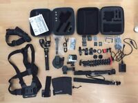 Go Pro Hero 4 Black Edition 4K - With Gimbal Feiyu Tech G4S and all accessories