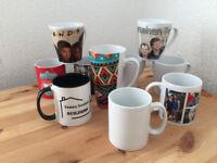 Customized mugs, 12 for £40