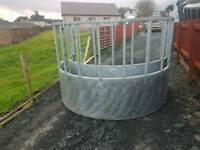 New galvanised cattle horse round bale ring feeder farm livestock tractor