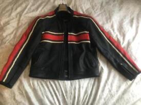 Leather Armored Biker Jacket
