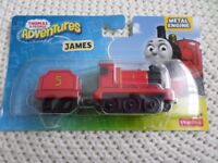 "FISHER PRICE THOMAS THE TANK ENGINE ""JAMES"" METAL TRAIN BRAND NEW & UNOPENED"