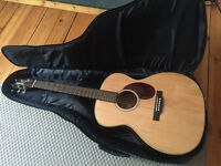 Almost New Jasmine J037 NAT Acoustic Guitar, Complete Guitar Player Songbook, Tuner and Case
