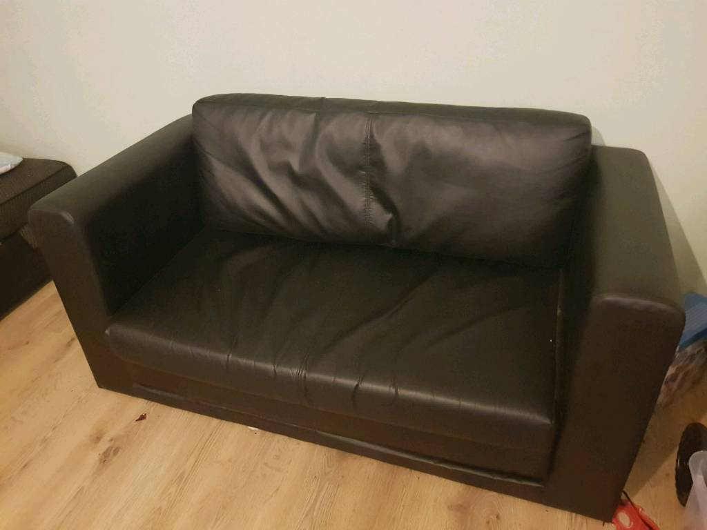 small leather sofa bed in bracknell  berkshire gumtree