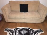 Sofa Bed Two Seater, Single Chair, Storage Footstool, Excellent Condition