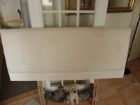 """HEADBOARD FOR DOUBLE BED 4' 6"""" CREAM SUEDETTE"""
