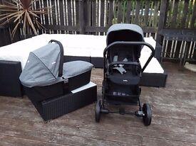 New pushchair and carrycot, pram, new pram, buggy, travel system