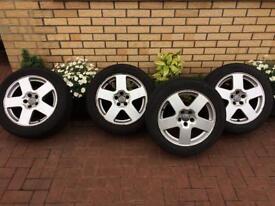 Audi TT Speedline 5x100 alloys and tyres