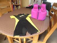 Wet Suit and Bouyancy aid