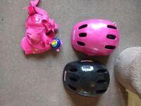 Kids bike helmets pink/ black