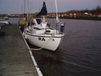 REDUCED FOR QUICK SALE Macwester 26' Yacht Sailing boat, Ready to motor or sail today.