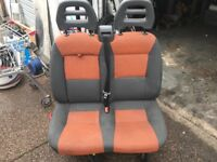 2006-2014 fiat ducato passenger twin seat orange black