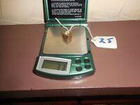 GOLD RING 9ct GARNETS size K
